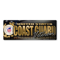 The United States Coast Guard was founded in 1790 and serves as both a branch of the military as well as law enforcement. During times of peace, the Coast Guard operates lighthouses and works with the Department of Homeland Security to protect our borders. During times of war, the Coast Guard works with the Navy and its resources are used in military operations. This Bumper Strip Magnet is a great way for Coast Guard veterans to show pride in their service to our country.