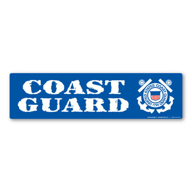 Coast guard bumper strip magnet the united states coast guard was founded in 1790 and serves as both a branch of