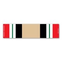 Iraq War Service Mini Ribbon Bar Magnet
