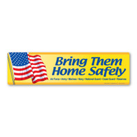 Bring Them Home Safely Bumper Strip  Magnet