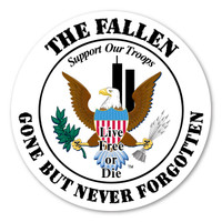 Remember The Fallen Circle Magnet