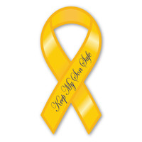 Keep My Son Safe Ribbon  Magnet