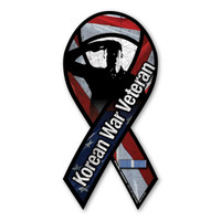 Korean War Veteran Salute Ribbon Magnet