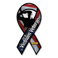 Vietnam War Veteran Salute Ribbon Magnet