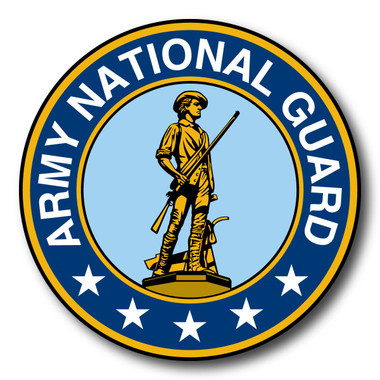 Although the National Guard was officially established as English colonial government militias in 1636, its roots can be traced back to 1565 when settlers in St. Augustine, FL, formed the first militia on what is now U. S. soil. Over time, state militias came to be called the National Guard. Today, the National Guard serves in times of state emergency such as hurricanes and floods as well as serving overseas in defense of our country. This Car Door Sign Magnet can be used for special events or my former and current members of the National Guard to show pride in their branch.