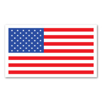 The United States Flag was first created in 1777, bearing 13 stars to represent the 13 colonies. The number of stars in the flag has changed many times as states were added between 1777 and 1960, when the flag came to be as it is today. This American Flag Rectangle Magnet is a great way to show that you are proud to be an American!