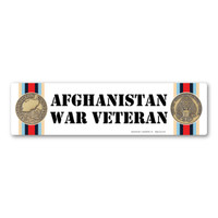The War in Afghanistan began in 2001 and is the longest war in American History. In 2013, withdrawal of American troops from Afghanistan began and the men and women in the service started coming home. Our Afghanistan War Veteran Bumper Strip Magnet can be used by veterans to show that they served to protect the freedom of the country and its future generations.