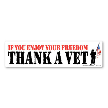 Bumper strip magnet regardless of which branch of service a veteran has served in we should always be