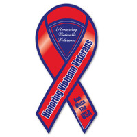 The Vietnam War is to be considered the longest war the United States was involved in.  It lasted right at 20 years.  Our Vietnam War Red Ribbon Magnet honors and helps us to remember the sacrifices made by those who fought in the Vietnam War.