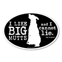 BIG Mutts Oval  Magnet