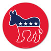 The Democratic Donkey is associated with Andrew Jackson's presidential campaign in 1828.  His opponents called him a jackass (donkey) because he was strong-willed. He found it to be hilarious so he decided to use it on his campaign posters.  He went on to win the election and became America's first Democratic president. In the 1870's, Thomas Nast (political cartoonist) helped the donkey to become the symbol for the Democratic Party. During election season, our Democratic Donkey Circle Magnet 2 is a great way to show your support for the Democratic party!