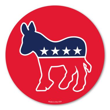 Democrat Donkey Version 2 Circle Magnet Magnet America