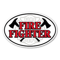 Firefighters, commonly known as a firemen, are not only trained in fire and rescue but first-aid, preservation of self and property, and prevention. Our Firefighter oval decal has the maltese symbol along with pick-axes. Displaying this Firefighter decal is a great way to show your pride and dedication to saving lives.