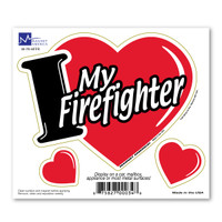 I Love My Firefighter 3-in-1 magnet shows your love for your firefighter! Firefighters are hard workers, dedicating themselves to be able to do their job effectively by saving lives.   Bravery, loyalty and honor describes an ultimate firefighter.