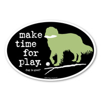 make time for play. Oval  Magnet