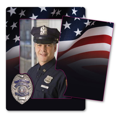 The Support Law Enforcement Picture Frame is a great way to show off the special officer in your life! Proudly display this picture frame magnet for all your friends and family to see! This is a great gift for a recent academy graduate!