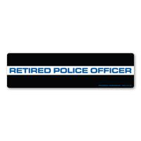 Our Retired Law Enforcement bumper strip magnet is for the officer who has spent their time protecting citizens and has retired from law enforcement. We thank you for your service!  Blue lives matter!