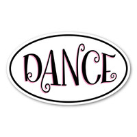 Dancing is a type of art, which involves purposeful movements in a sequence.  Whether it's ballet, jazz, hip-hop or tap, our decal will show your enjoyment of dancing!