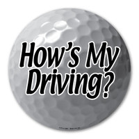 Wood or long iron?  Which club will you use to tee off?  Show your how much you like to drive the ball down the golf course with this humorous golf ball magnet!