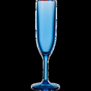 Drinique Blu Unbreakable Champagne Flute 6 oz Blue Tritan