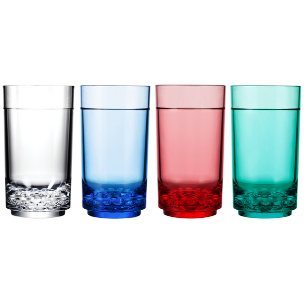 Drinique Elite Tall 14 Ounce Color Options (Clear, Blue, Red, Teal)