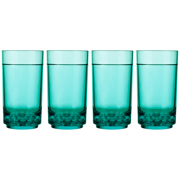 Drinique Elite Tall 14 Ounce (Set of 4, Teal)