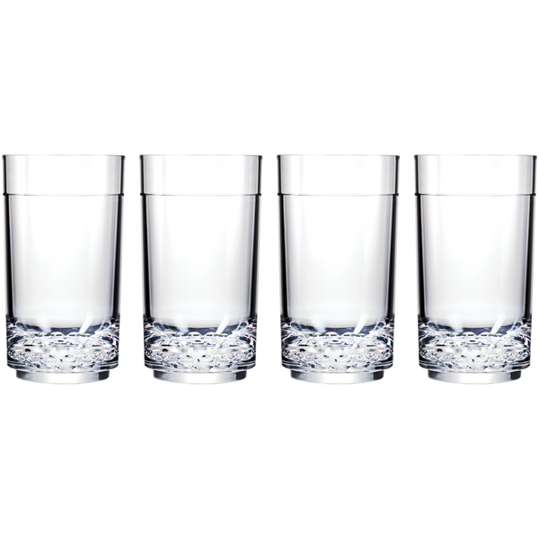 Drinique Elite Tall 14 Ounce (Set of 4, Clear)