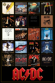AC/DC Discography Music Poster 24x36