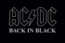 AC/DC Back In Black Music Poster 36x24