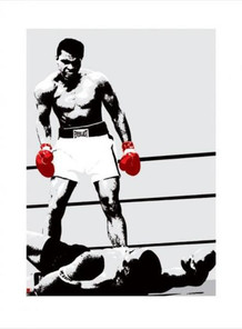 Muhammad Ali Red Boxing Gloves Art Print Poster 23.5x31.5