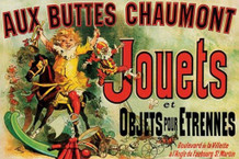 Jules Cheret Aux Buttes Chaumont Jouets 1885 Vintage French Department Store Toy Ad Poster - 36x24