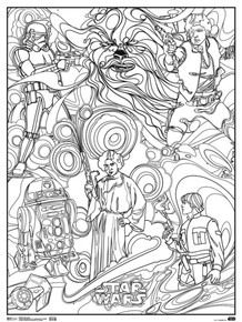Star Wars Classic Trilogy Movie Coloring Poster