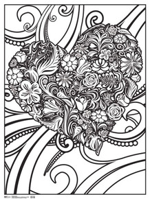 Heart Art Print Coloring Poster