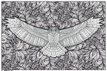 Ultimate Owl Art Print Coloring Poster
