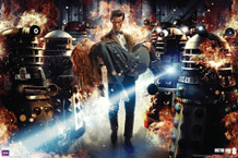 Doctor Who Flames TV Show Poster 36x24