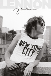 John Lennon NYC Profile Music Poster 24x36
