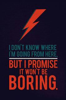 It Wont Be Boring Quote Art Print Poster 24x36 inch