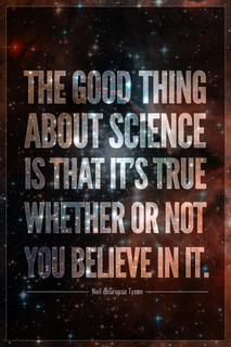 The Good Thing About Science Neil deGrasse Tyson Quote Mural Giant Poster 36x54 inch