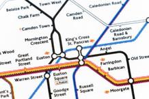 Tube Map of London Underground Kings Cross Art Poster 36x24 inch