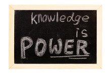 Knowledge is Power Inspirational Art Print Poster 36x24 inch