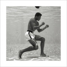 Muhammad Ali Underwater Boxing Sports Thick Cardstock Poster 16x16