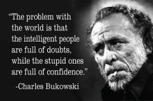 Charles Bukowski The Problem With The World Quote Mural Giant Poster 36x54 inch