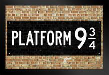 Platform 9 3/4 King Cross Movie Framed Poster by ProFrames 14x20 inch