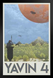 Yavin 4 Rebel Base Fantasy Travel Movie Framed Poster by ProFrames 14x20 inch