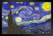 Vincent van Gogh The Starry Night Fine Art Print Framed Poster by ProFrames 20x14 inch