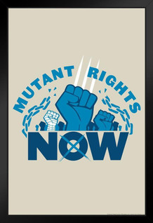 Mutant Rights Now Funny Framed Poster by ProFrames 14x20 inch