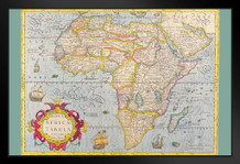 Map of Africa 1610 Antique Vintage Style Art Print Framed Poster by ProFrames 14x20 inch