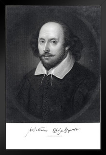 William Shakespeare Engraving 1870 Art Print Framed Poster by ProFrames 14x20 inch