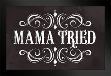 Mama Tried Retro Country Music Framed Poster by ProFrames 14x20 inch