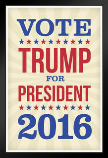 Vote Trump For President 2016 Election Framed Poster by ProFrames 14x20 inch